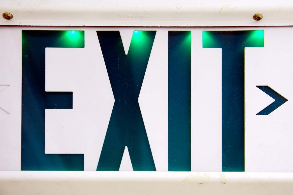 Download Free Stock HD Photo of Exit Sign in Building Online