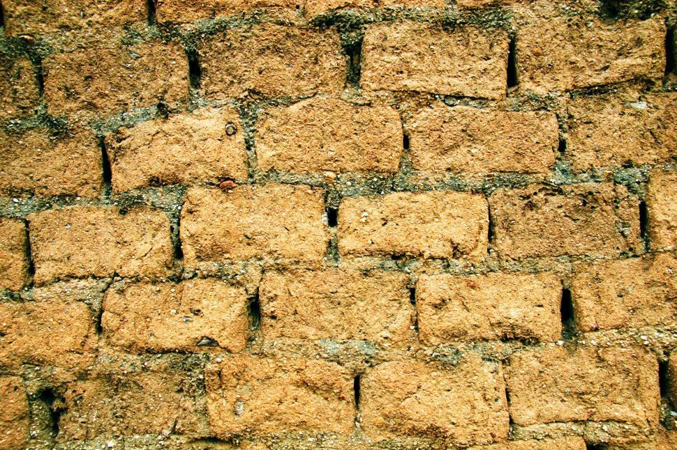 Download Free Stock Photo of Adobe brick texture