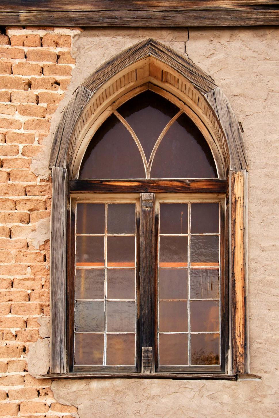 Download Free Stock Photo of Old church window