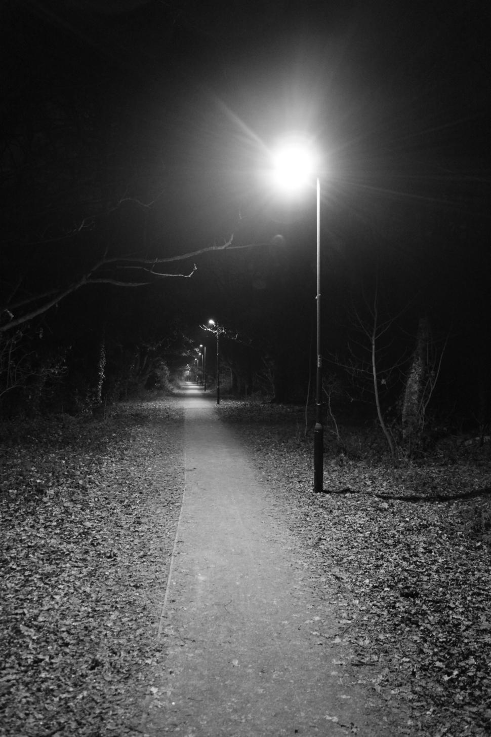 Download Free Stock Photo of Dark abandoned pathway