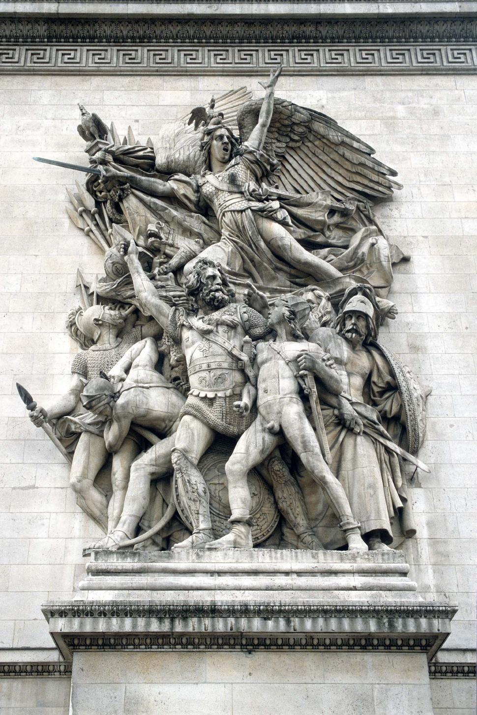 Download Free Stock HD Photo of Sculpture Panel from Arc de Triumph Online