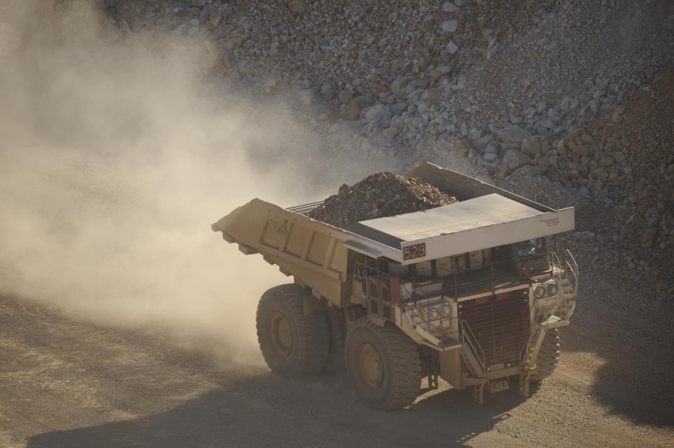 Download Free Stock Photo of Mining dump truck hauling some rocks