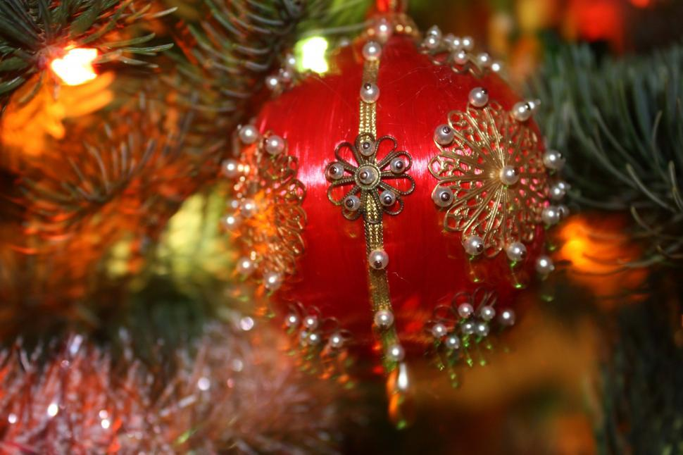 Download Free Stock HD Photo of Old-fashioned Christmas tree ornament Online