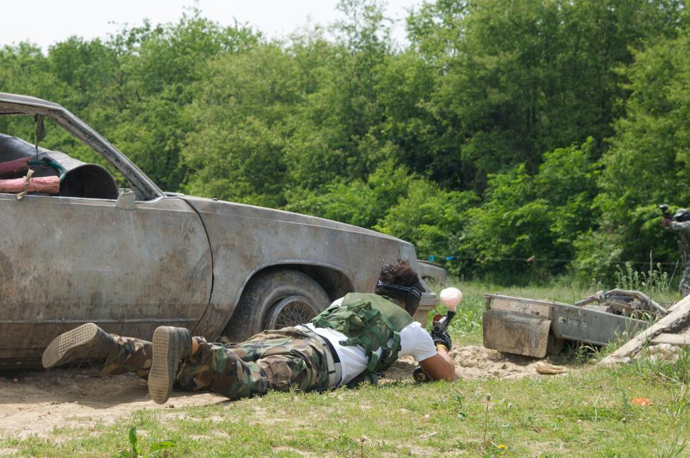 Download Free Stock Photo of Paintball game