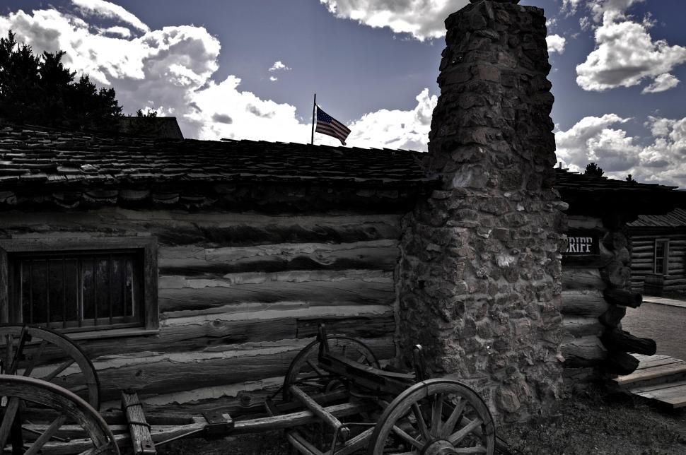 Download Free Stock Photo of Sheriffs station in the old west