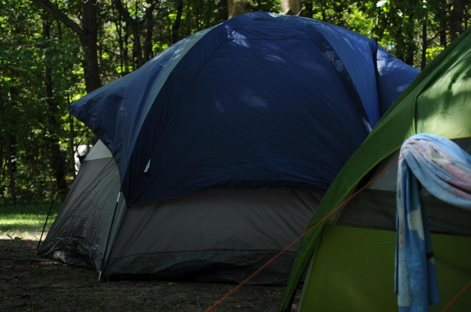 Download Free Stock Photo of Pitched tents