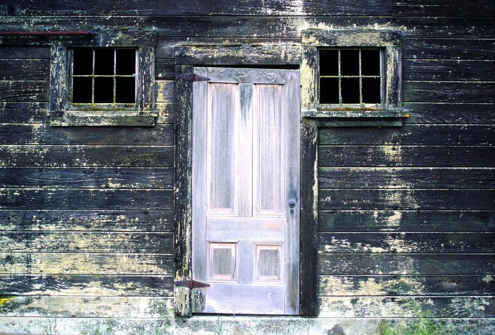 Download Free Stock Photo of Old door on old house