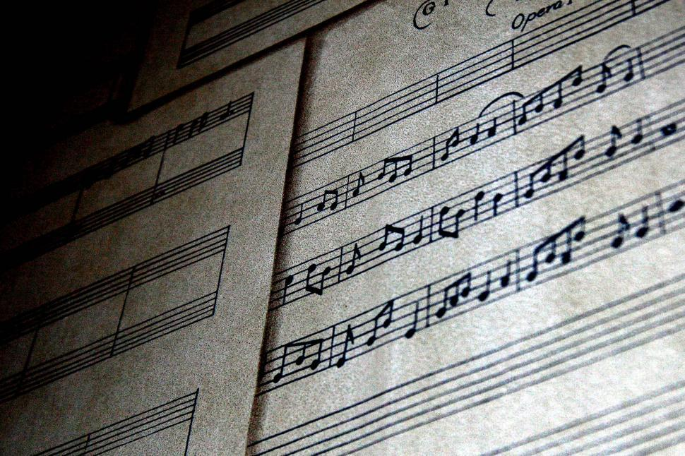 Download Free Stock Photo of Grainy sheet music