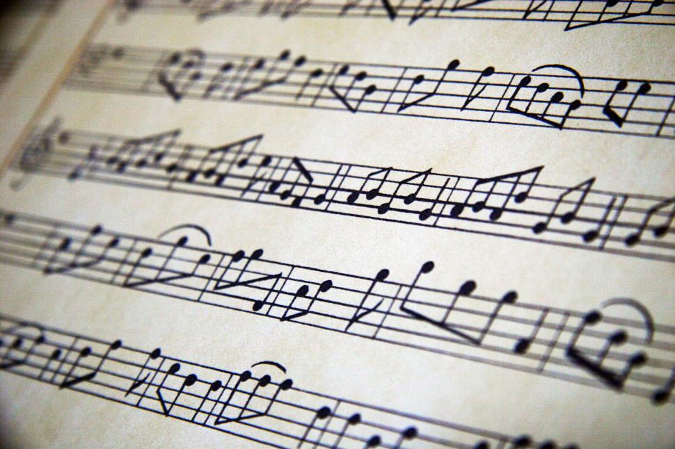 Download Free Stock Photo of Sheet music background
