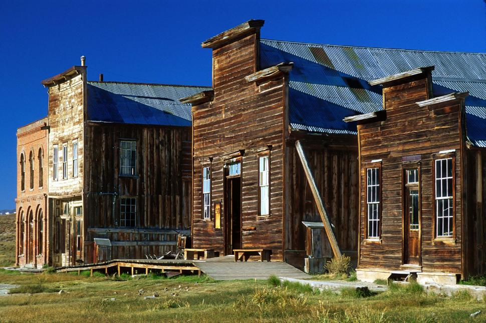 Download Free Stock Photo of Ghost Town buildings