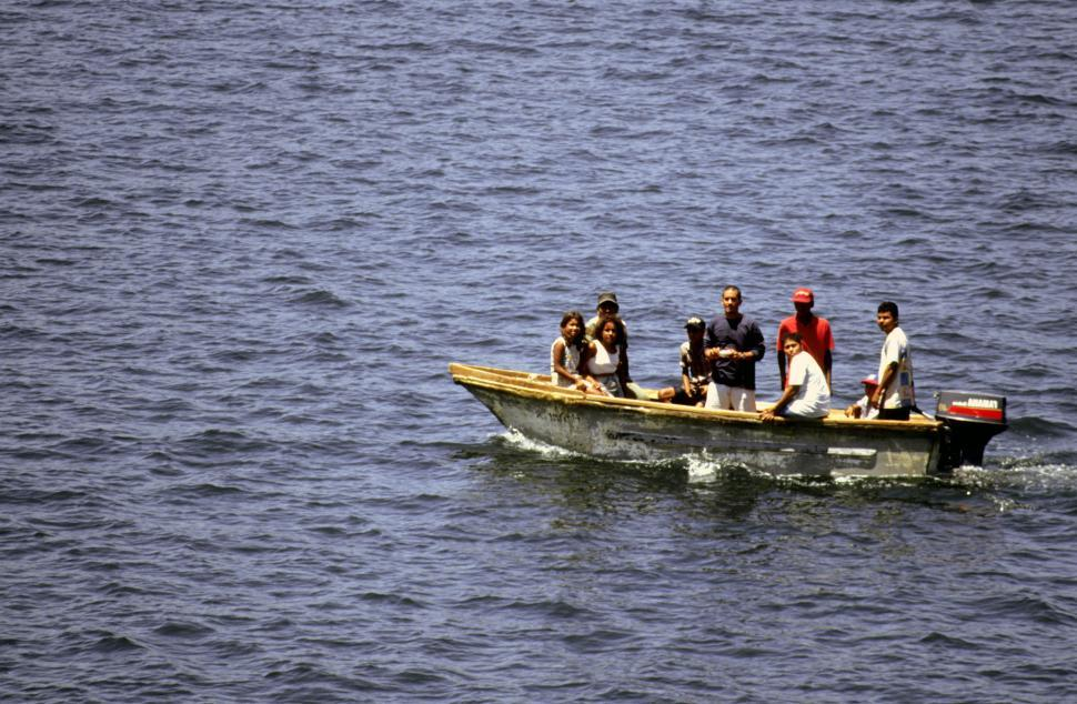 Download Free Stock Photo of People in boat