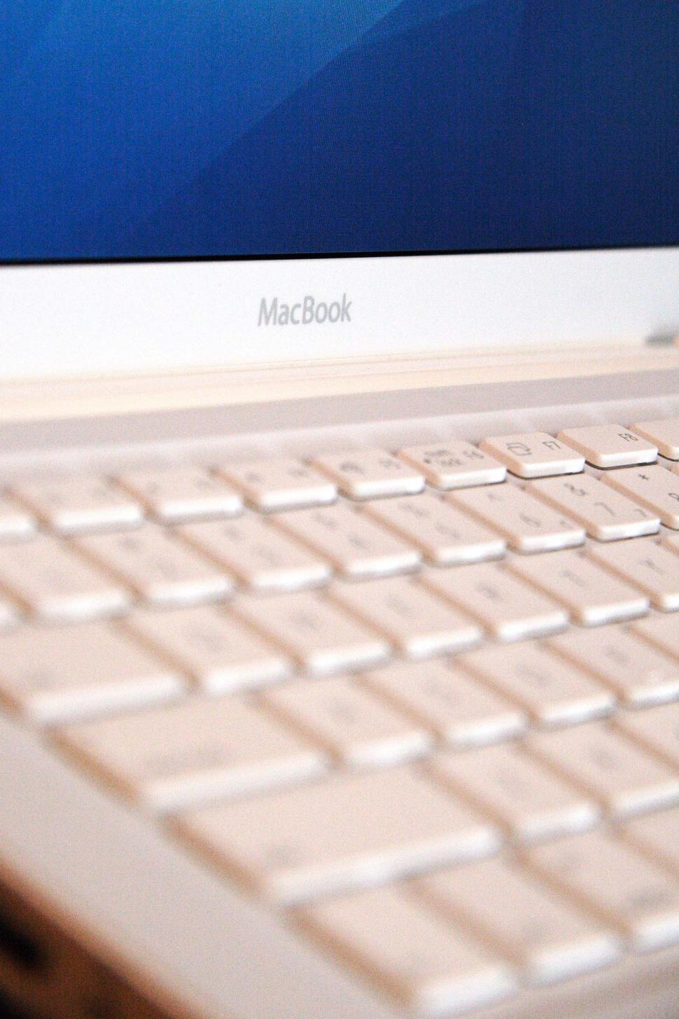 Download Free Stock Photo of apple macbook laptop computer keyboard technology macintosh