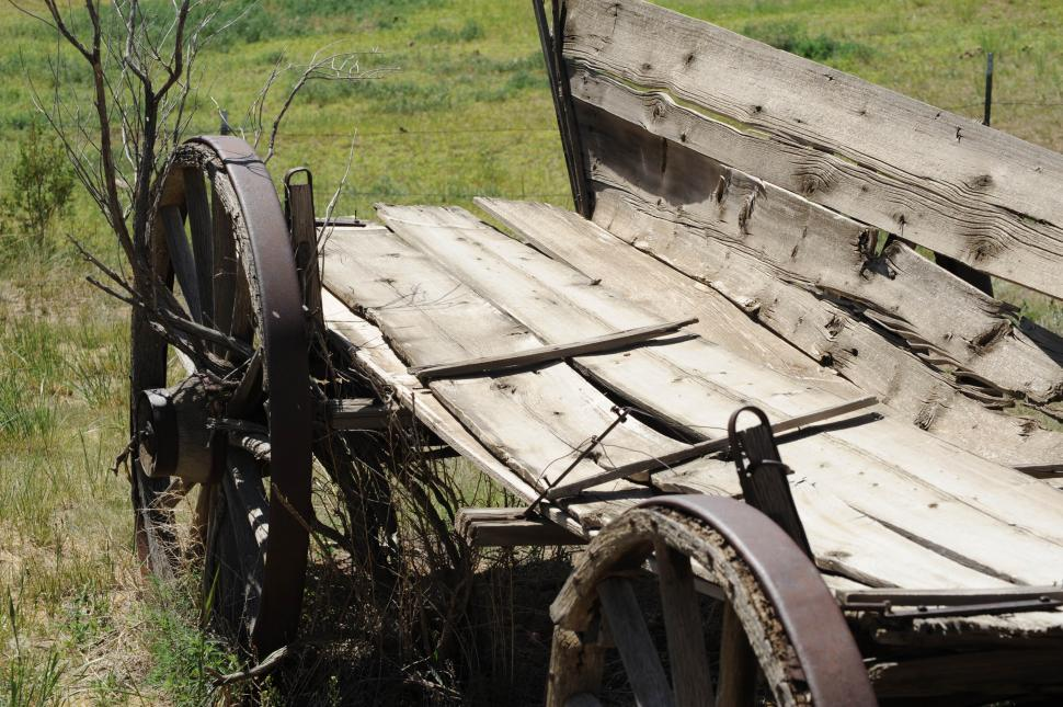 Download Free Stock Photo of Run down wagon