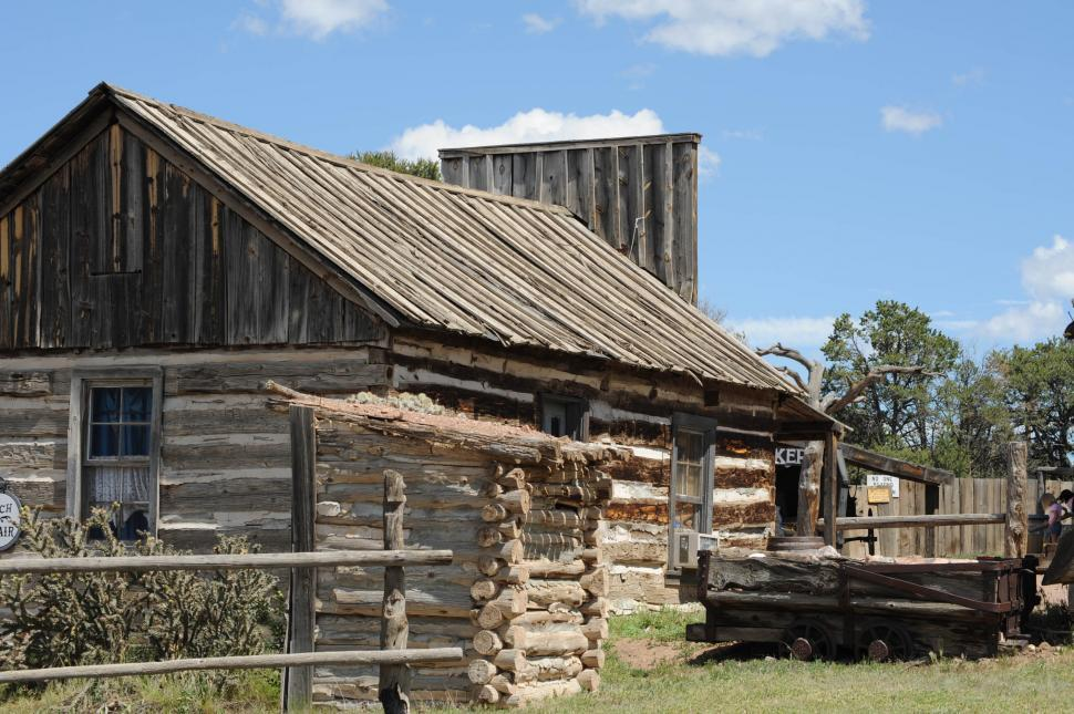 Download Free Stock Photo of Old western house