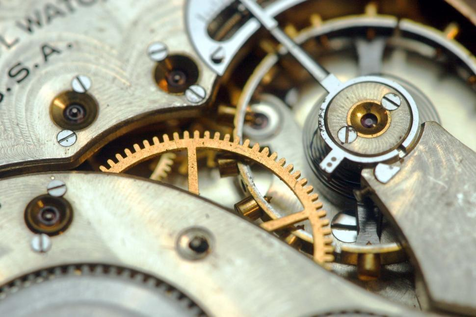 Download Free Stock Photo of Watch gears and springs