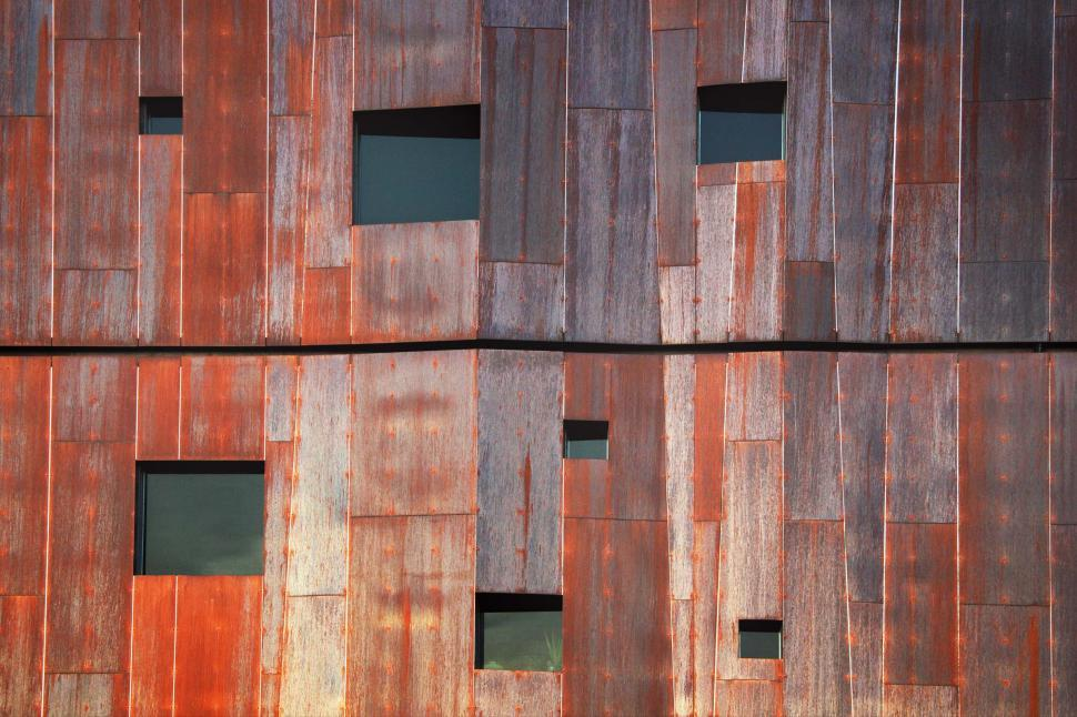 Download Free Stock Photo of Windows in copper building