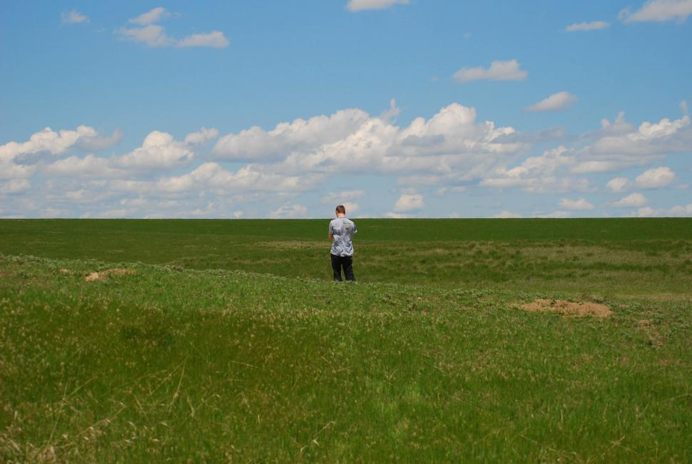 Download Free Stock Photo of Man in field