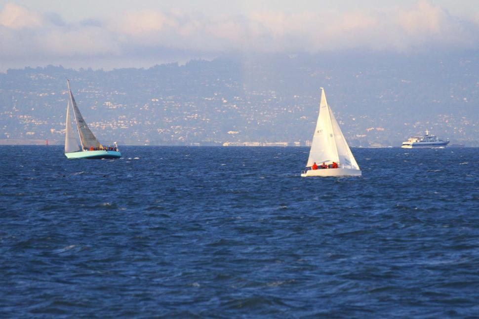Download Free Stock HD Photo of Sailboats on the bay Online