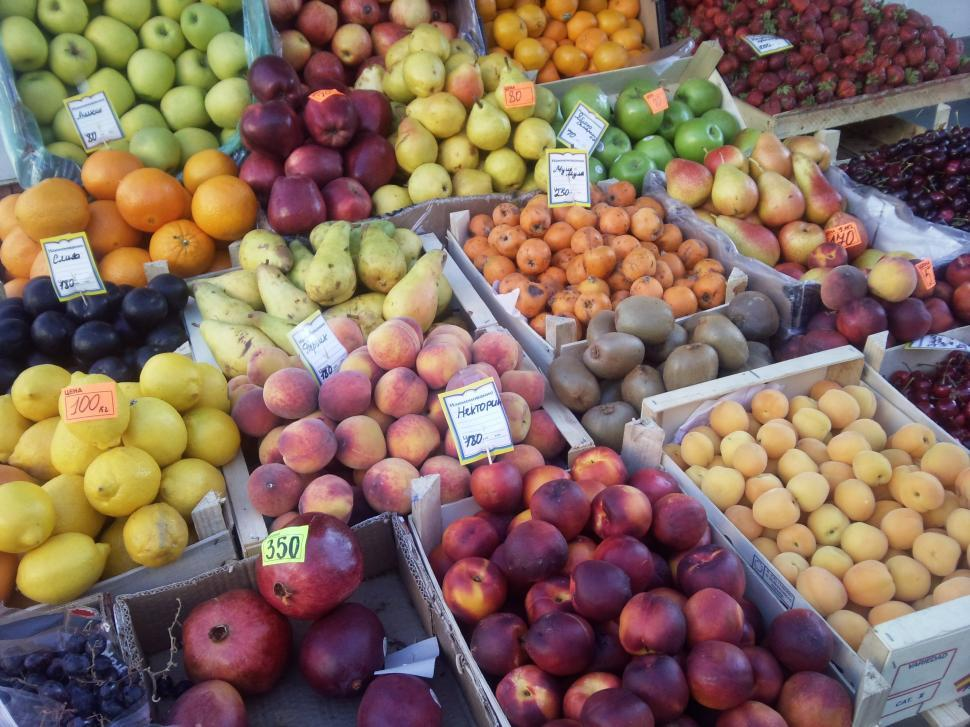Download Free Stock Photo of Fruits at Market