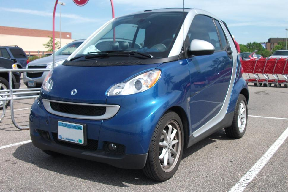 Download Free Stock Photo of Blue Smart Car