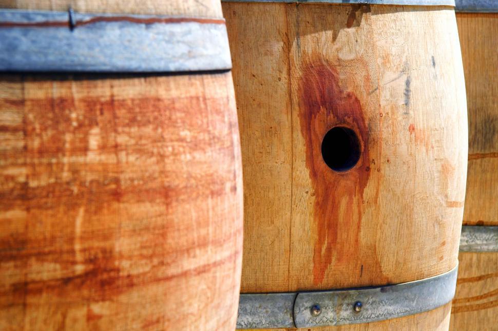Download Free Stock HD Photo of Oak casks for aging wine Online