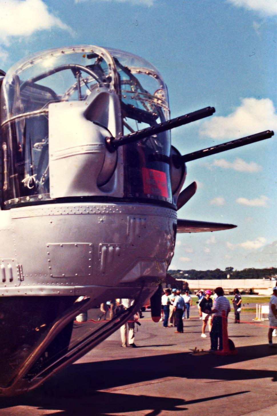 Download Free Stock Photo of B-24 Liberator bomber nose turret