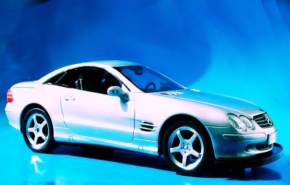 Download Free Stock HD Photo of Mercedes Benz on Blue Online
