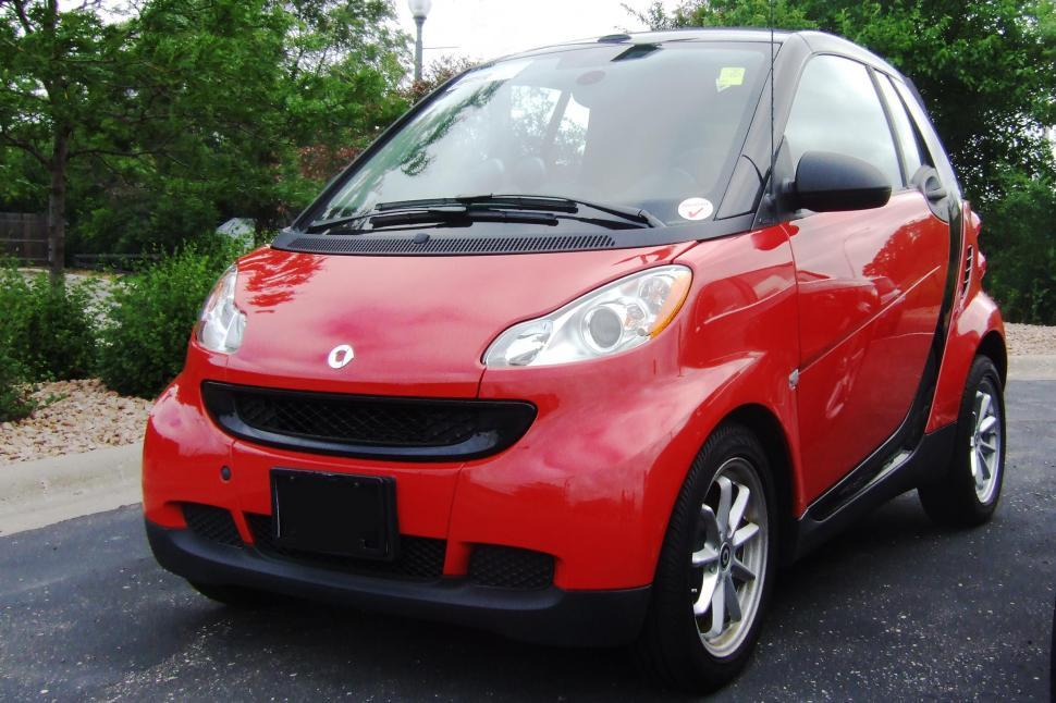 Download Free Stock Photo of Red Smart Car