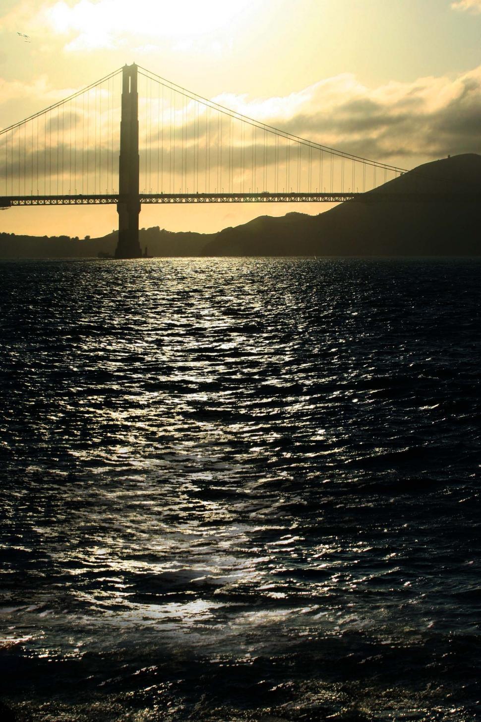 Download Free Stock HD Photo of Ocean, sunset, Golden Gate Online