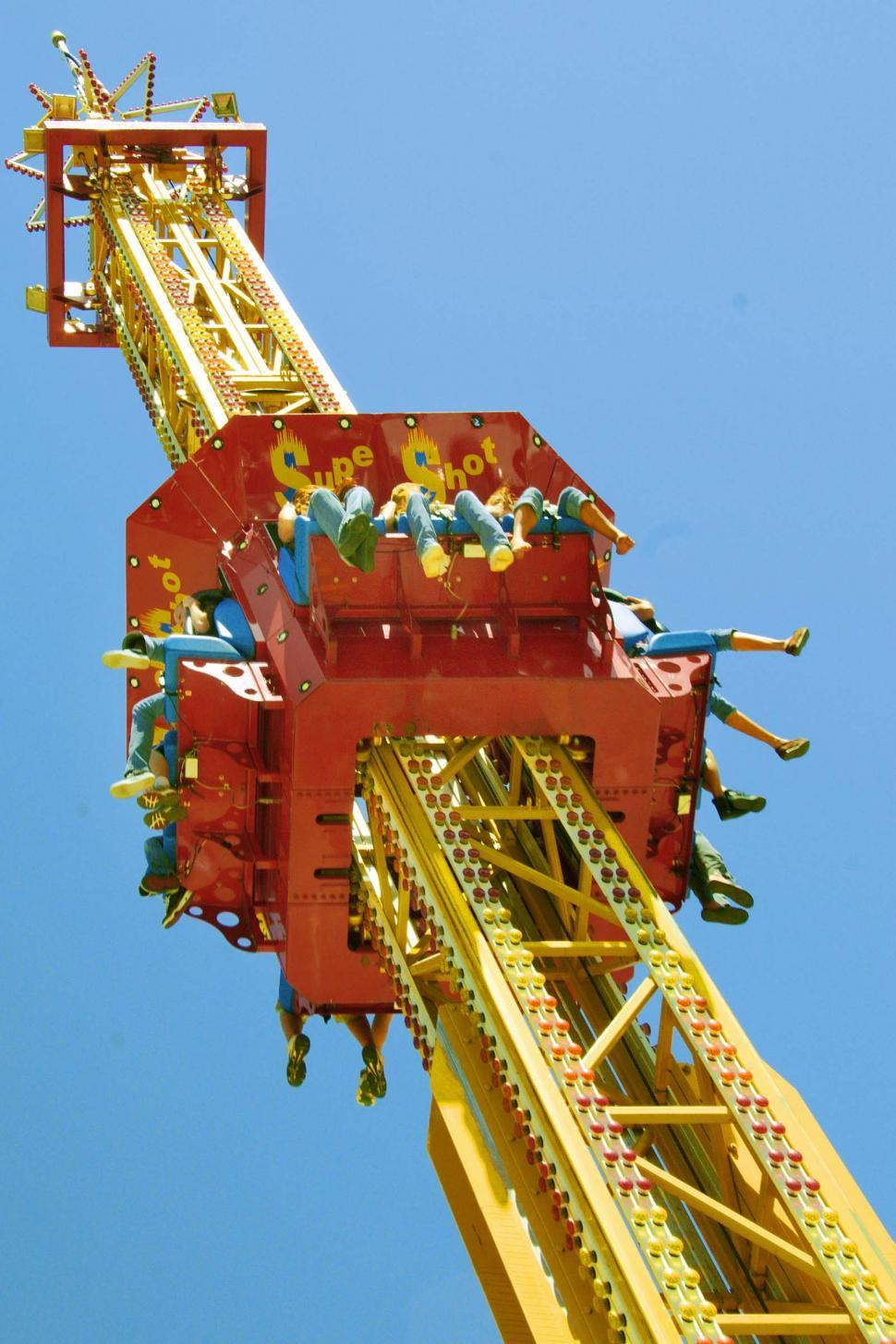 Download Free Stock Photo of Carnival ride tower