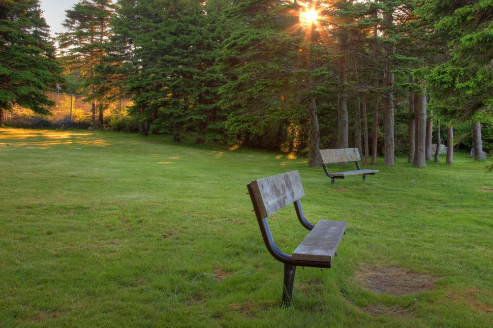 Download Free Stock Photo of Park bench
