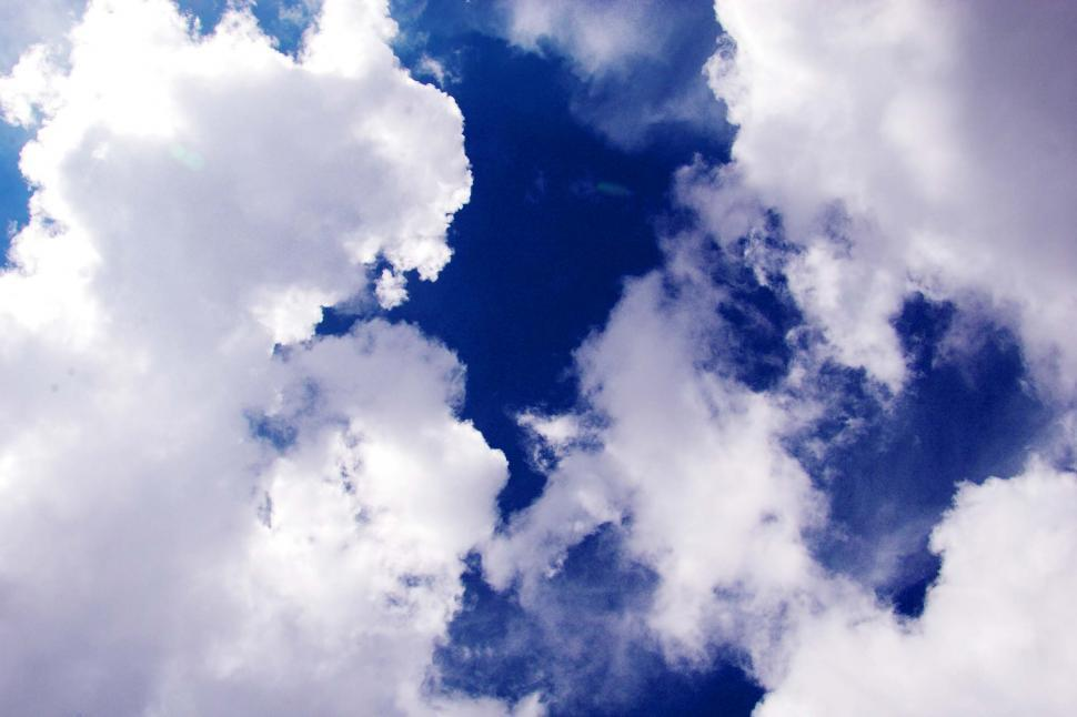 Download Free Stock HD Photo of White clouds blue sky Online