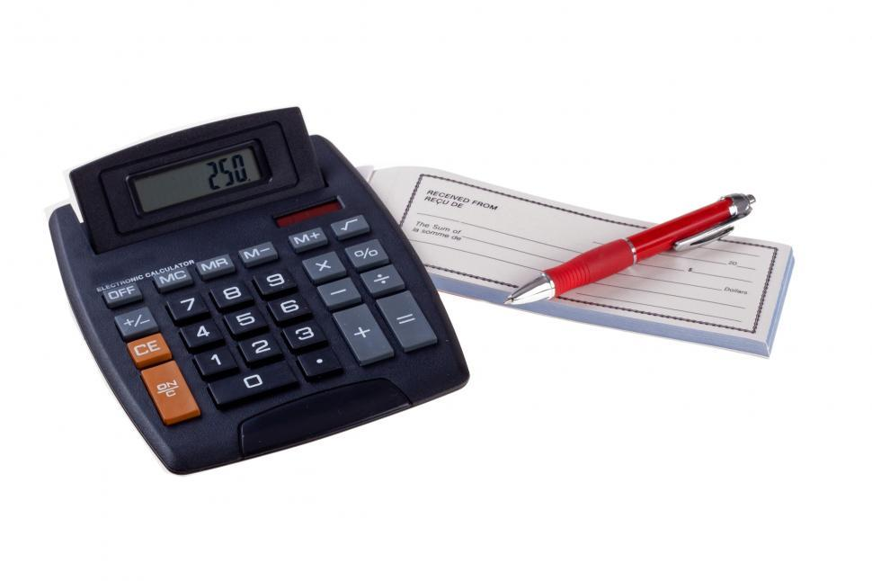 Download Free Stock HD Photo of Calculator and Receipt Book Online