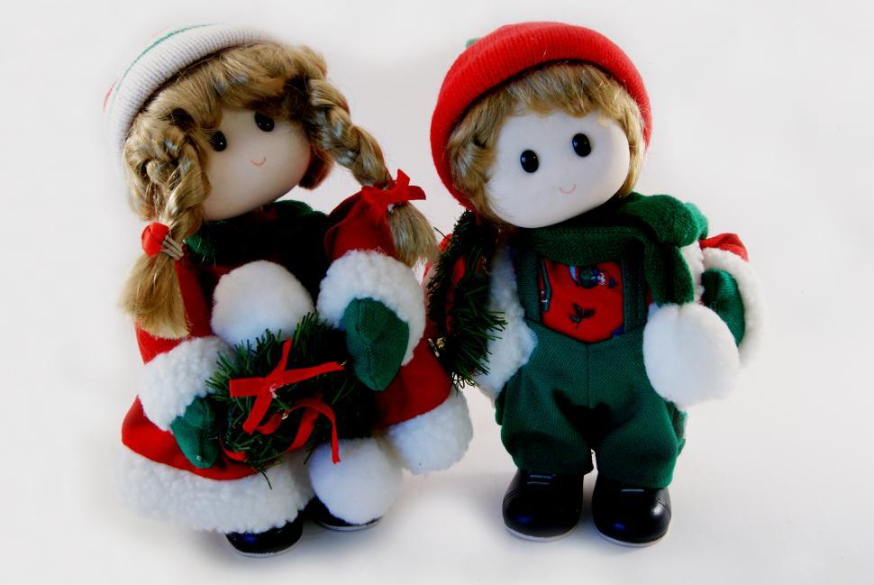 Download Free Stock Photo of Christmas Dolls