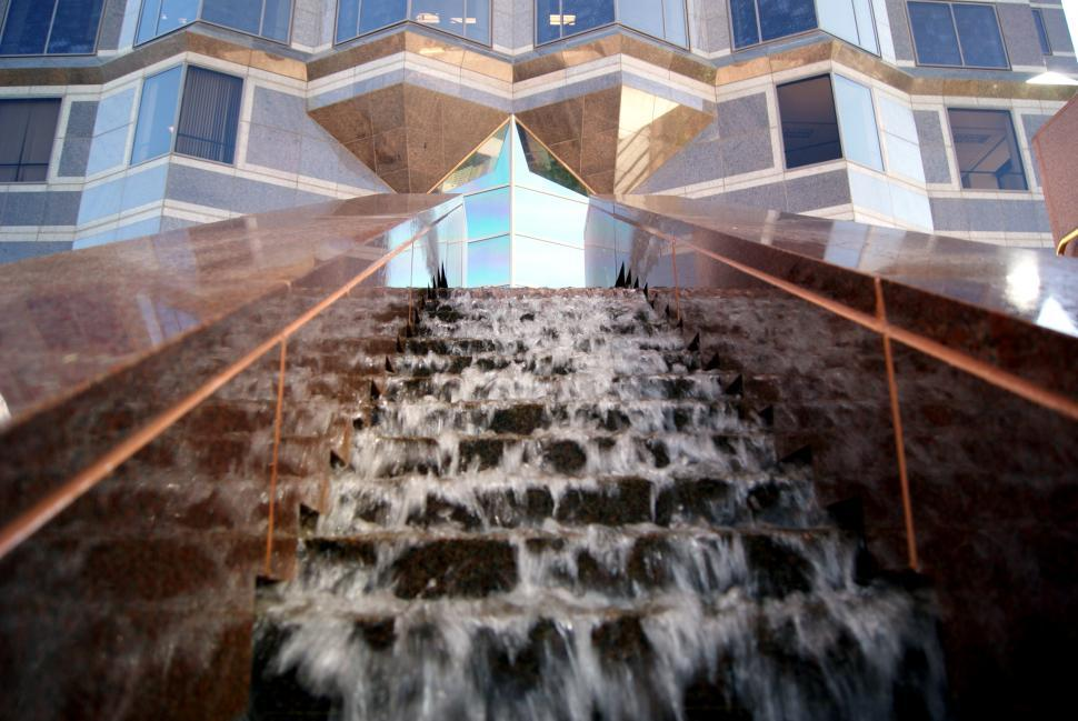 Download Free Stock Photo of Water Fall and Building