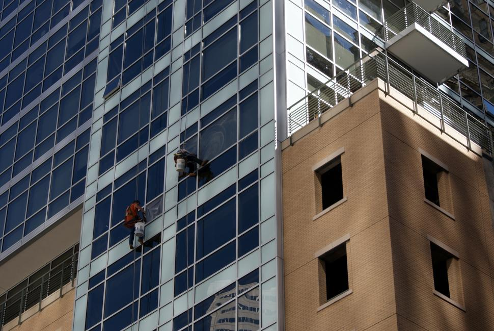 Download Free Stock Photo of Window Washers