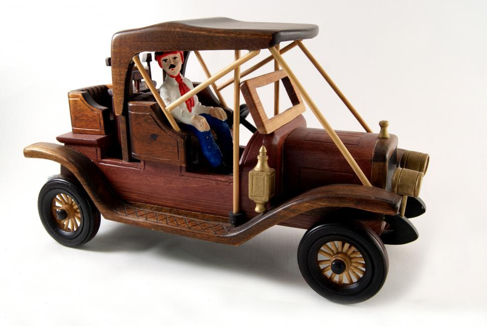Download Free Stock Photo of Model wood Car
