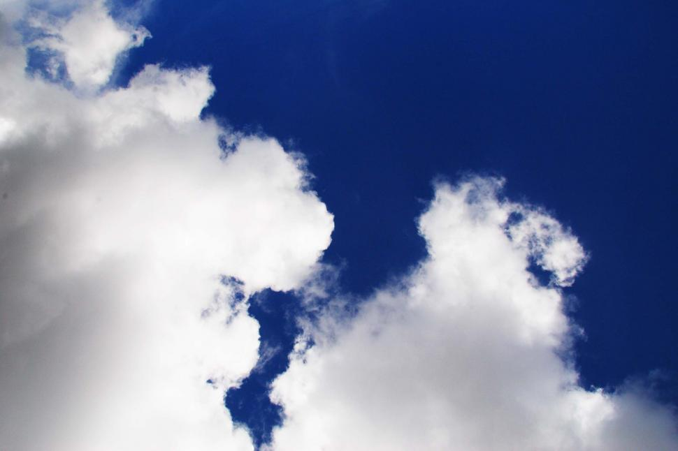 Download Free Stock Photo of Puffy clouds