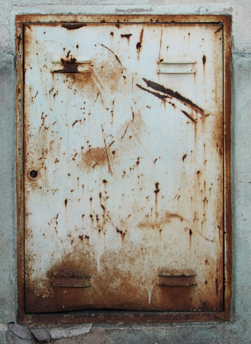 Download Free Stock Photo of Rusty Panel