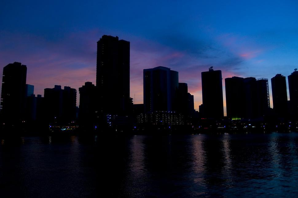 Download Free Stock HD Photo of Panama City Skyline at Dusk Online
