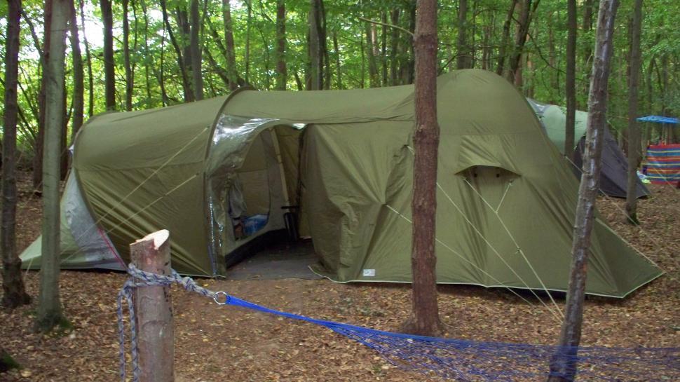 Download Free Stock Photo of Green Camping Tent