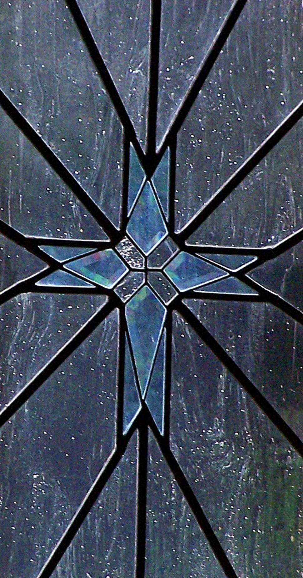 Download Free Stock Photo of stained glass cross in chapel