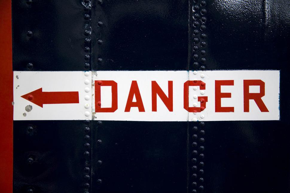 Download Free Stock HD Photo of aircraft danger sign Online