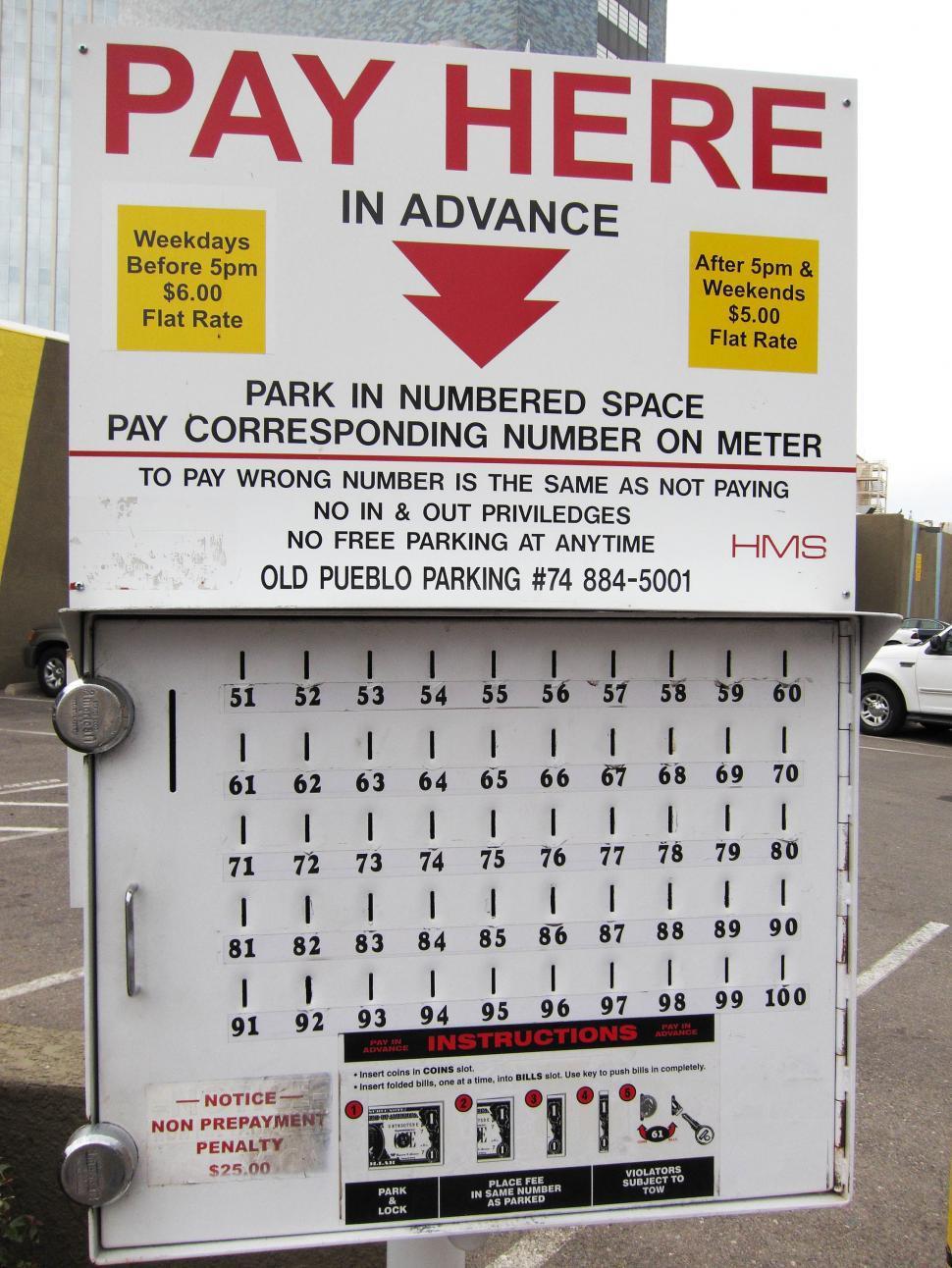 Download Free Stock Photo of parking meter