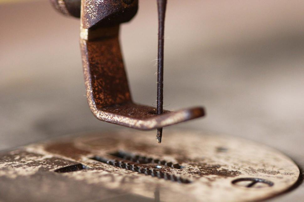 Download Free Stock HD Photo of Old sewing machine needle Online