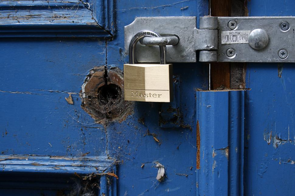 Download Free Stock HD Photo of locked  door Online