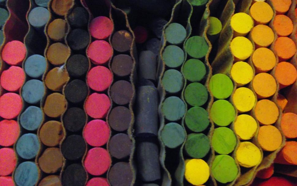 Download Free Stock HD Photo of Pastel crayons full assortment of colors Online