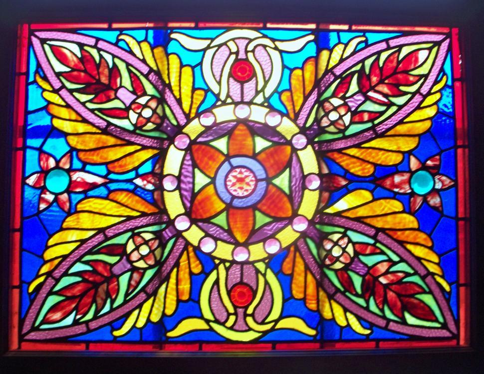 Download Free Stock HD Photo of Stained glass window with backlighting Online