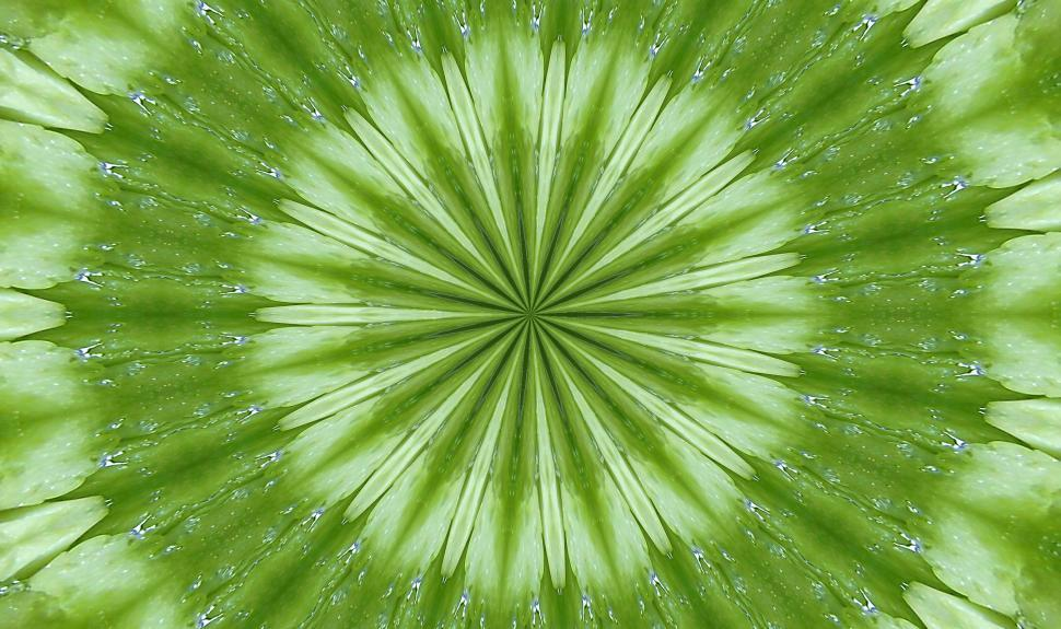 Download Free Stock HD Photo of Bright Green Kaleidoscope background image 3 Online