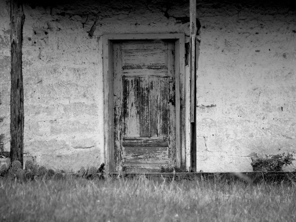 Download Free Stock Photo of Old house front door